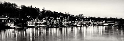 Boathouse Row at Sunrise - 162PXLBW