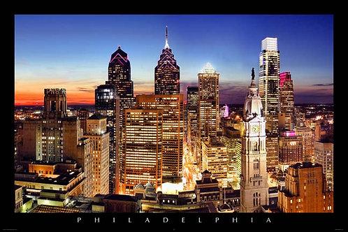 Philadelphia Skyline at Sunset - 167L
