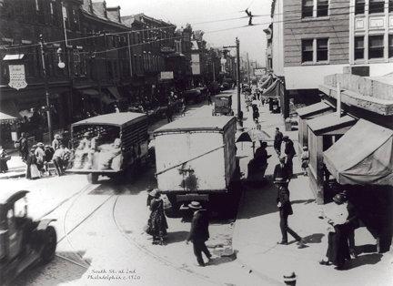 """South St. at 2nd, c. 1920 - 709H (16"""" x 22"""")"""