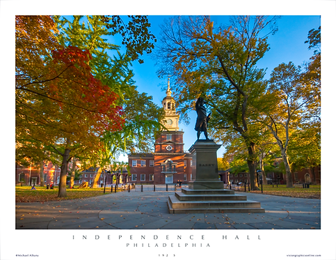 Independence Hall in Autumn - 192S