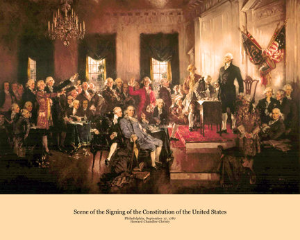 The Signing of the Constitution - 714H (19 x 23.5)