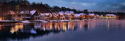 Boathouse Row in the Wintertime - 194PXL