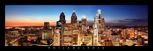 Philadelphia Skyline at Sunset - 167PXL