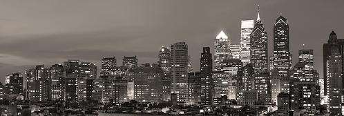 Philadelphia Night Skyline - 205PMBW