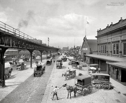 """Delaware Avenue, c. 1908 - 703H (18"""" x 22"""")"""