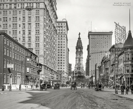 "Broad St. at Locust, c. 1907 - 715H (18"" x 22"")"