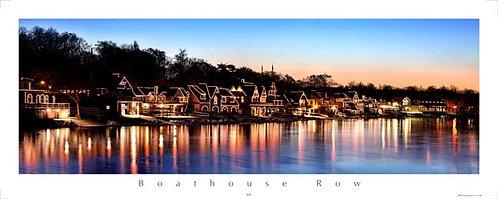 Boathouse Row at Sunrise - 162PS