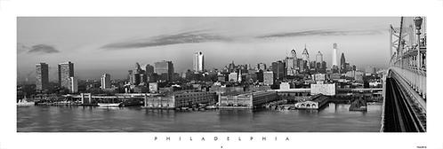 Philadelphia with Ben Franklin Bridge - 206PMBW
