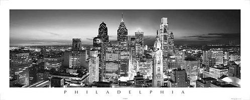 Philadelphia Skyline at Sunset - 167PSBW