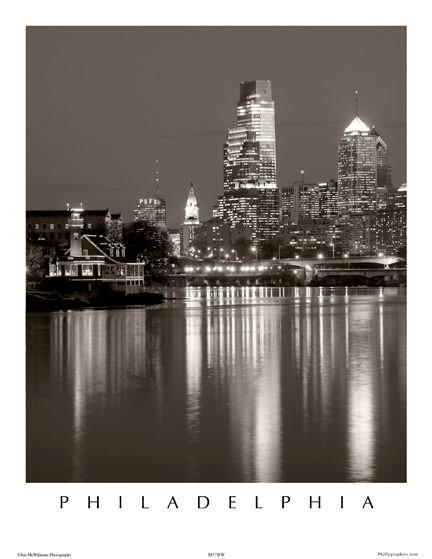 Philadelphia Skyline - 150SBW