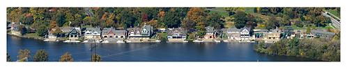 "Boathouse Row Aerial - 509PXLW (12""x60"")"