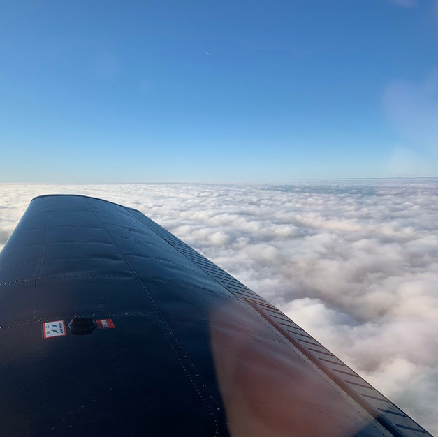 Above the clouds in RG.