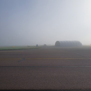 Hangar in the mist