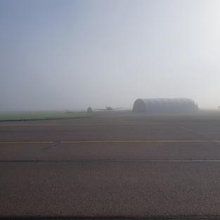 Hangar in the mist