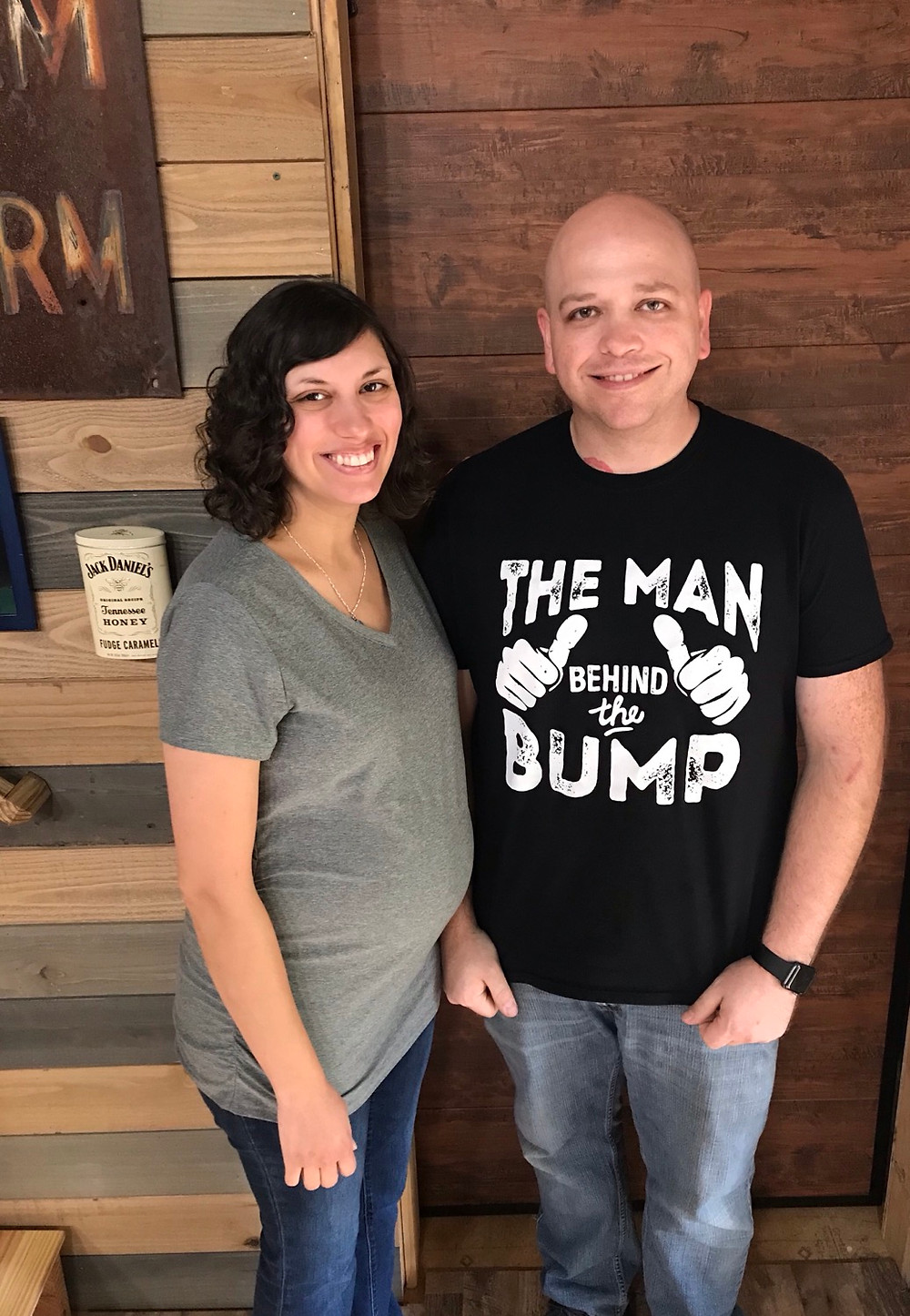 Father to be trains to support his wife in natural birth