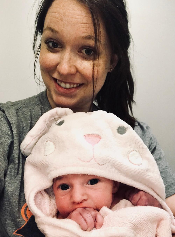 Mom trains with YourBirthHelper.com to birth drug free  Charlotte, NC Doula Dream Team assisted birth