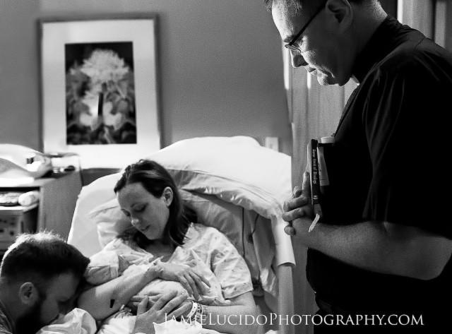 Baby's bedside baptism