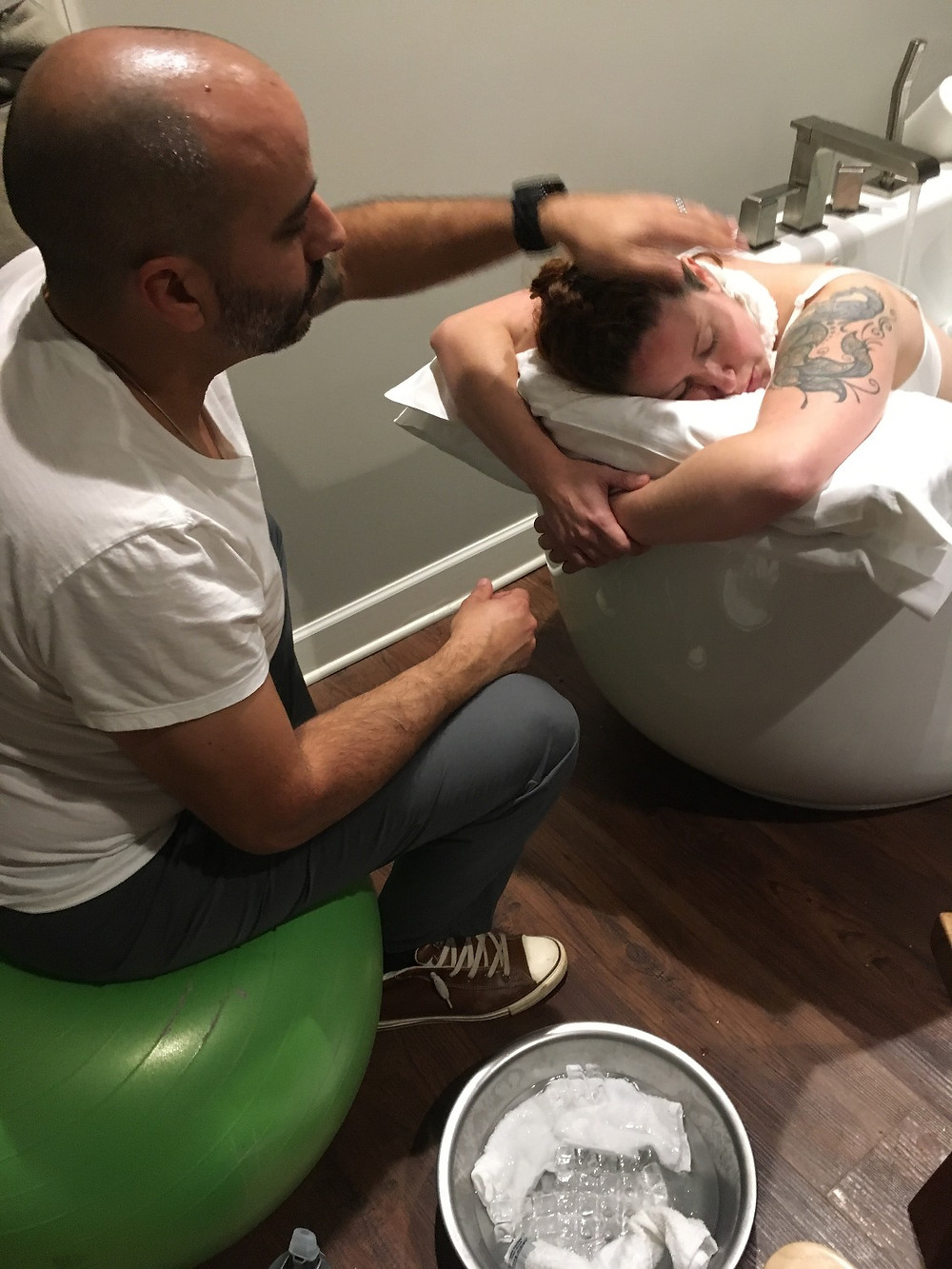 Husband Coaches wife | Encourages relaxation during labor