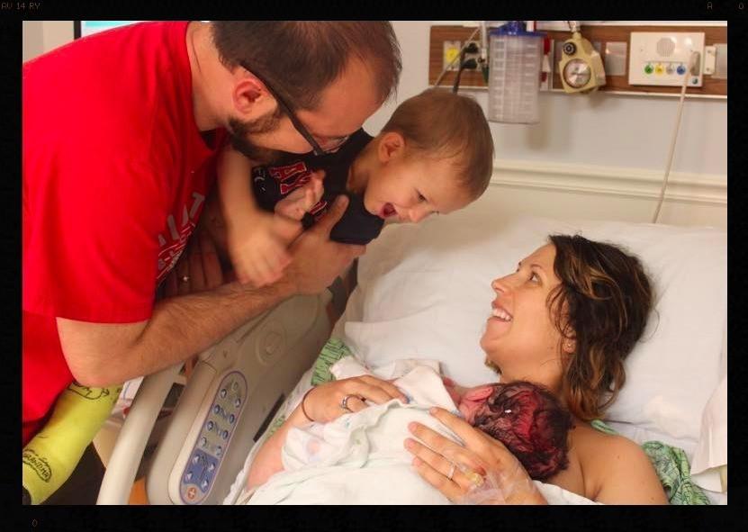 VBAC Birth | Husband Coached | Siblings at Birth