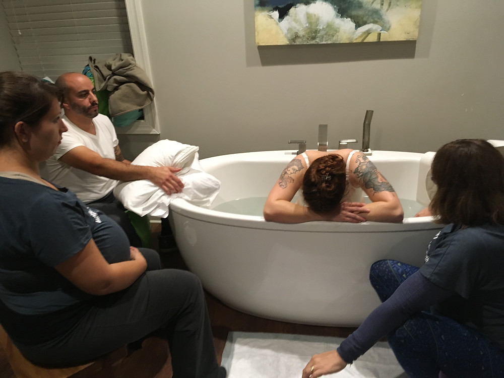 Mom labors down in tub | #CharlotteDoulaDreamTeam