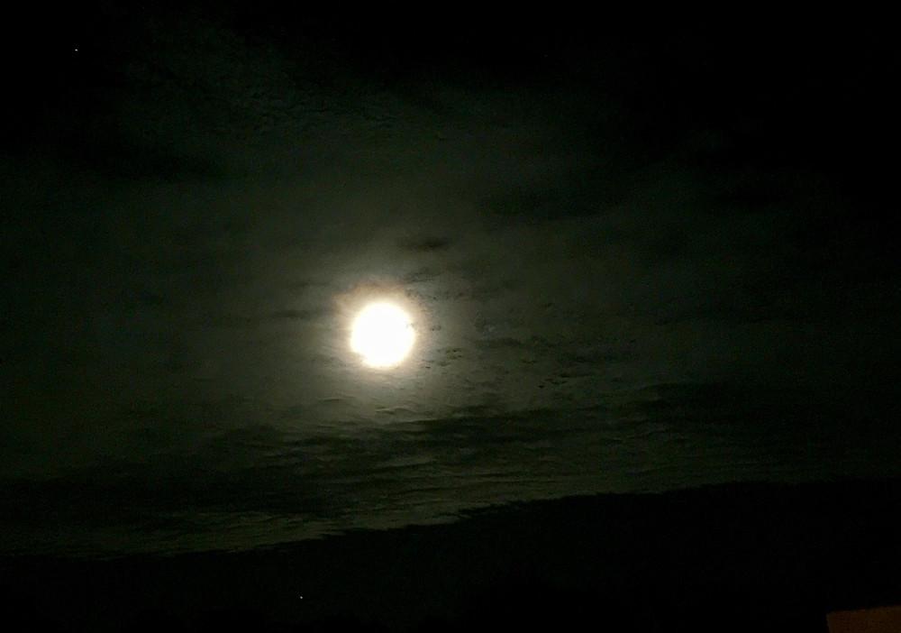 Full Moon shining bright Easter Sunday morning