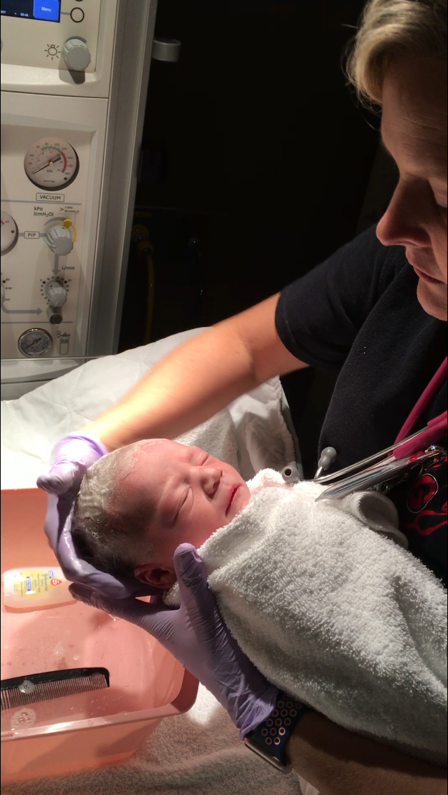 Baby's first Bath |