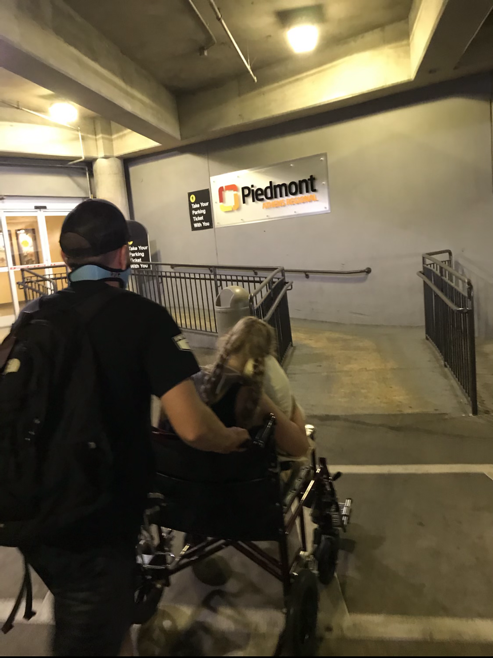 Laboring mom has urge to push in hospital parking deck