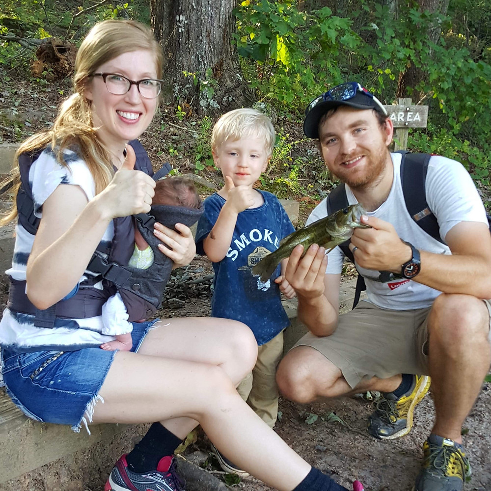 #CharlotteBirthFamilyFun | Newborn Fishing Date
