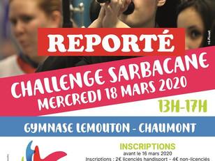 // REPORT CHALLENGE DÉPARTEMENTAL SARBACANE //
