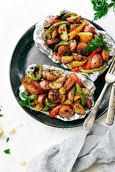 Tin-Foil-Sausage-Veggie-Packs-Italian-Se