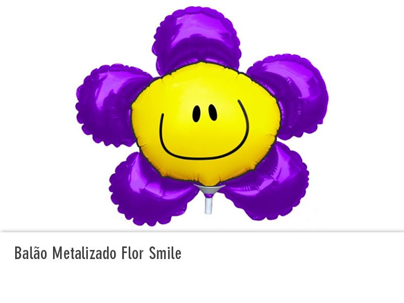 Balão Metalizado Flor Smile