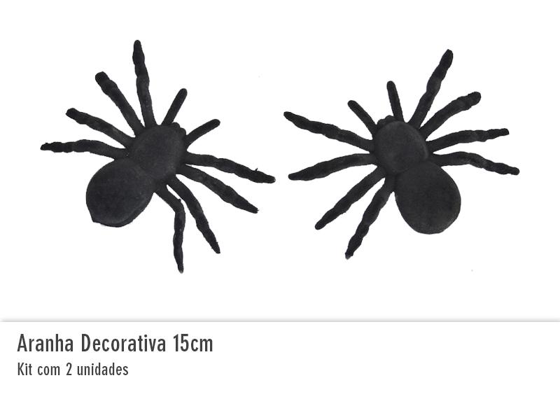 Aranha Decorativa 15cm