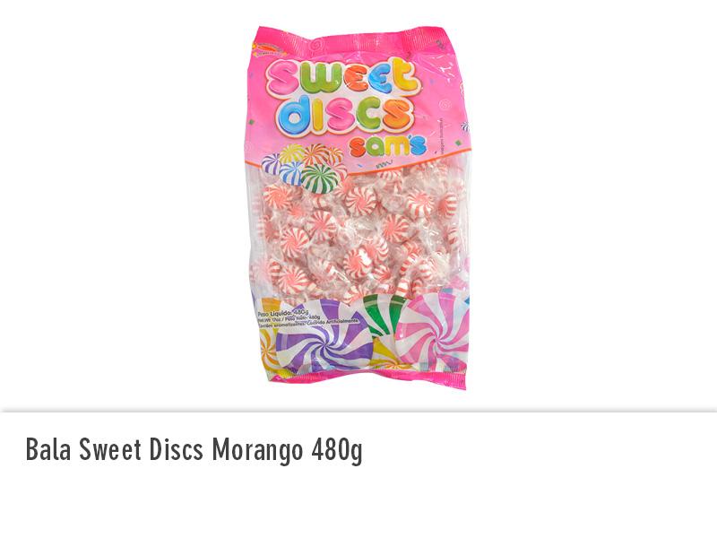 Bala Sweet Discs Morango 480g