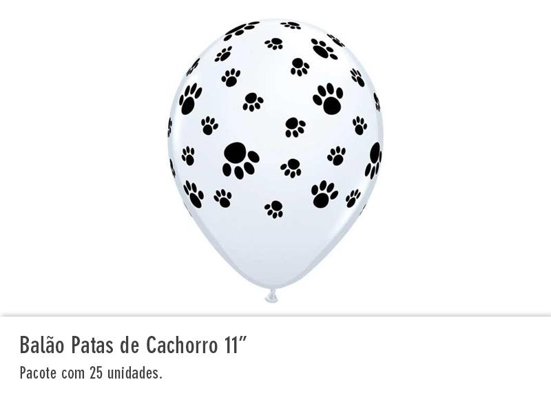 """Balão Patas de Cachorro 11"""""""