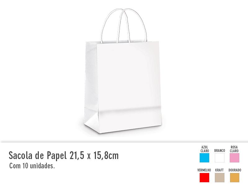 Sacola de Papel 21,5x15,8cm