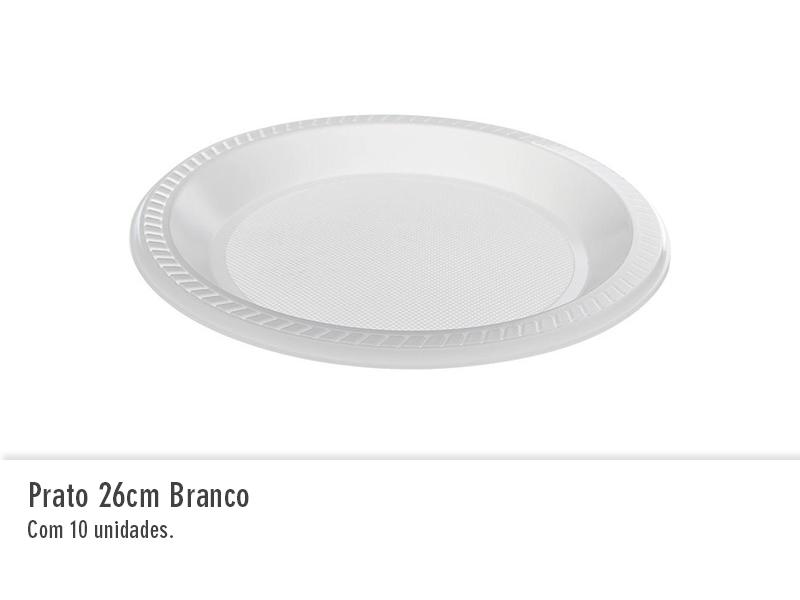 Prato 26cm branco