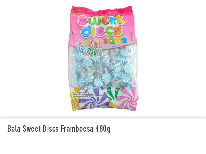 Bala Sweet Discs Framboesa 480g