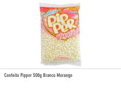 Confeito Pipper 500g Morango Branco