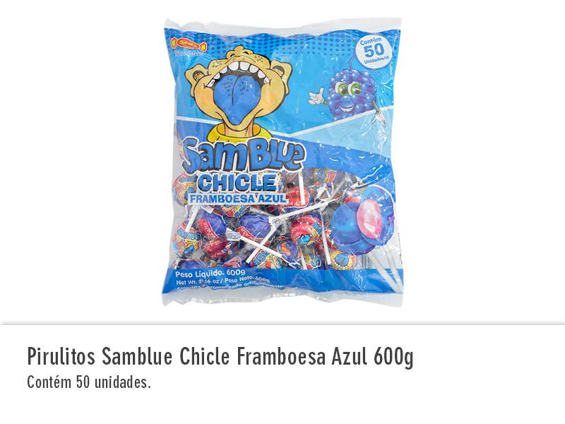 Pirulitos Samblue Chicle Framboesa