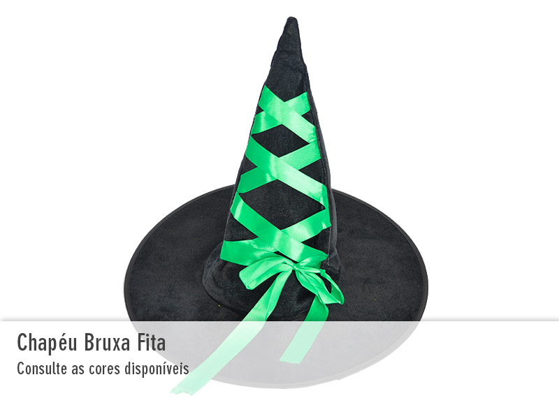 Chapéu de Bruxa com Fita