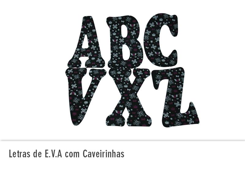 Letras de EVA com Caveirinhas