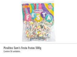 Pirulitos Sam`s Festa Frutas 500g