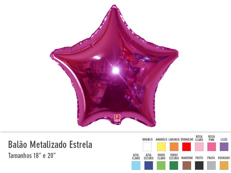 Balão Metalizado Estrela