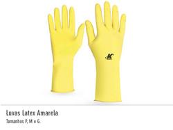 Luvas Latex Amarelo