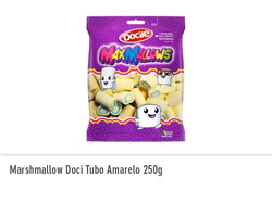 Marshmallow Doci Tubo Amarelo 250g
