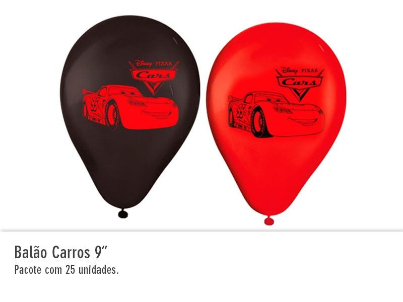 """Balão Carros 9"""""""