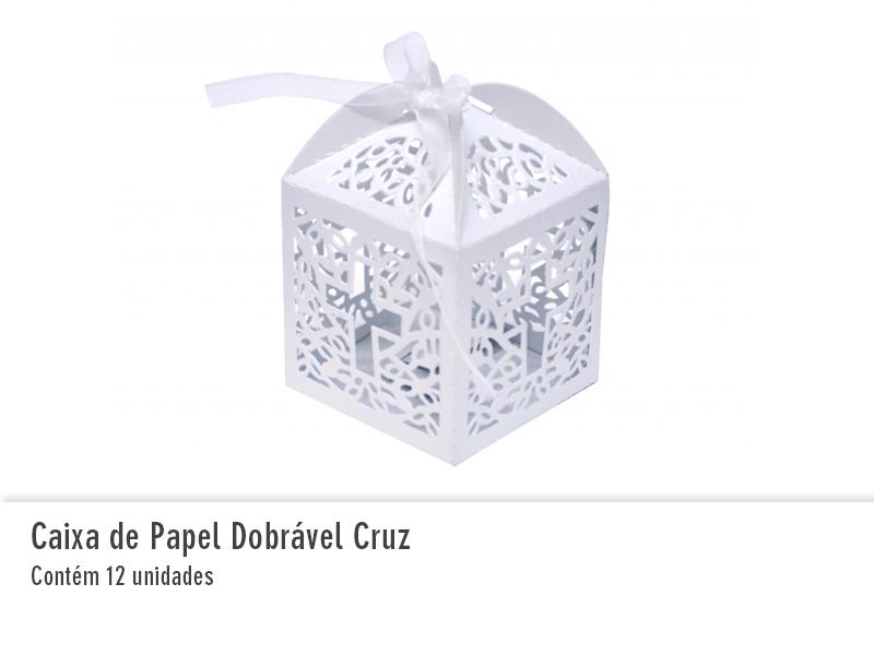 Caixa de Papel Dobrável Cruz