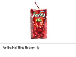 Pastilha Mini Minty Morango 14g