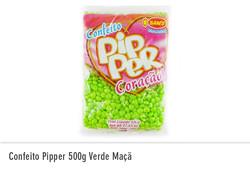 Confeito Pipper 500g Verde Maçã