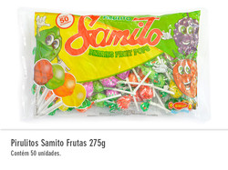 Pirulitos Samito Frutas 275g